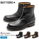 送料無料 ブッテロ BUTTERO T ボーン T BONE B4422 全4色 レザー サイドジップ プレーントゥ ブーツ シューズ MADE IN ITALY (BUTTERO B4422 USGBI14 PH-SHAD PE-ASPO) メンズ(男性用) ブーツ