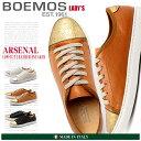 送料無料 BOEMOS ボエモス レザー ローカット スニーカー 全3色(ARSENAL E4-8532)レディース(女性用) シューズ ゴールド シルバー 天然皮革 本革 カジュアル