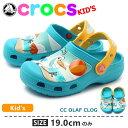 送料無料 クロックス CROCS CC オラフ クロッグ エレクトリックブルーCC OLAF CLOG 201503-404ベビー & キッズ(子供用) サボ ...