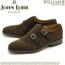 送料無料 ジョンロブ ウィリアム2 9795 JOHN LOBB WILLIAM2 ダブルモンク ストラップ シューズ ブラウンスエード JOHNLOBB WILLIAM2 9795 DARK BROWN SUEDE DOUBLE MONK STRAP SHOES メンズ(男性用)