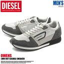 全国送料無料 ディーゼル オーウェンス グレー×チャコール(DIESEL OWENS Y00992-P0460 H5447)レトロ ランニング カジュアル スニーカー シューズ 靴メンズ 男性