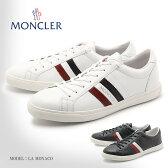 送料無料 MONCLER モンクレール スニーカー LA MONACO モナコ 全2色1012700 07870 035 779レザー 天然皮革 ローカット シューズ 靴 ホワイト ブラック トリコロール メンズ(男性用)