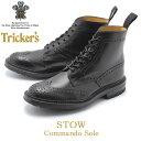 送料無料 TRICKER'S トリッカーズ ブーツ ブラック ストウ STOW 5634/9C メンズ カントリーブーツ ウイングチップ ドレスシューズ フォーマル 革靴 紳士靴 グッドイヤーウェルテッド製法