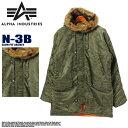 【alpha/アルファ】ALPHA INDUSTRIES アルファ N-3B タイト スリムフィット ジャケット MJN31210C1 N-3B SLIMFIT JACKET カモコート n3b【n-3b】 メンズ(男性用)