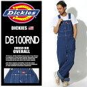 ディッキーズ DICKIES つなぎ インディゴ ビブ オーバーオール インディゴブルーINDIGO BIB OVERALL DB100RND作業服 ズボン ワークウェア サロペット アメカジ カジュアル 青メンズ