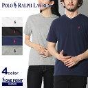 【メール便可】 POLO RALPH LAUREN ポロ ラルフローレン Tシャツ 全5色ワンポイント Vネック 半袖Tシャツ323-674983 001 002 003 004 005 メンズ レディース