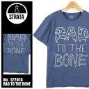 【DM便(旧メール便)可】 ストラータ クロージング STRATA CLOTHING 半袖Tシャツ Rad to the bone ブルー(STRATA CLOTHING 122015-4)メンズ(男性用)