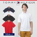 【在庫処分SALE】TOMMY HILFIGER GOLF トミーヒルフィガー ゴルフ TH001SA ポロシャツ 半袖 鹿の子 無地 全4色FLAG 大きいサイズ クールビズ トミーフィルフィガーメンズ(男性用)