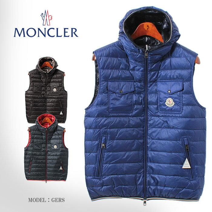 送料無料 MONCLER モンクレール 【2014年モデル】 GERS ジレ ワンポイント ダウンベスト 4337199 53279メンズ(男性用)