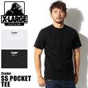【メール便可】 XLARGE X-LARGE エクストララージ 01153101 SS POCKET TEE 半袖 Tシャツ 全2色トップス ウェア カットソー シンプル 無地 クルーネックメンズ(男性用)