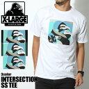 【メール便可】 送料無料 エクストララージ X-LARGE 半袖Tシャツ INTERSECTION SS TEE 全3色(X-LARGE M17A1102 BLACK FORESTGREEN WHIT..