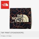 【メール便可】 THE NORTH FACE ザ ノースフェイス ステッカー ブラックTNF プリントステッカー ロープ TNF PRINT STICKER ROPENN31710 RP