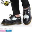 全国送料無料 ドクター マーチン 3989 5ホール ブローグ シューズ ベックスソール ブラック×ホワイト(Dr.Martens 3989 5EYE BROGUE SHOE BEX SOLE)ウィングチップ マーチン 5アイ プラットフォーム 厚底 ワーク ウエスタン 靴 メンズ 男性 レディース 女性