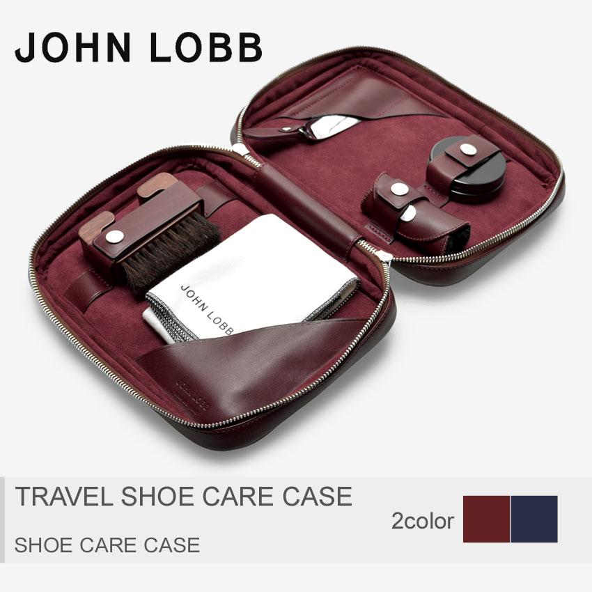 【MAX600円OFFクーポン配布】JOHN LOBB ジョンロブ シューケアケース トラベルシューケアケース TRAVEL SHOE CARE CASEXC0109L 1U メンズ