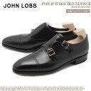 JOHN LOBB ジョンロブ ドレスシューズ ブラック フィリップ 2 ダブル バックル PHILIP II DOUBLE BUCKLE 725200L 1R メンズ ブランド ..