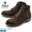 ALDEN オールデン ブーツ ブラウン タンカーブーツ TANKER BOOT D5912C メンズ シューズ トラディショナル ビジネス フォーマル スウェ−ド 茶色 革靴 紳士靴