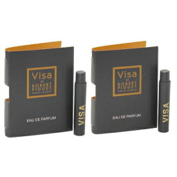 ロベール ピゲ ビザ お試しチューブサンプル 2個セット 2x0.8ml【Robert Piguet Visa EDP Vial Sample 2x0.8ml(Lot of 2)】