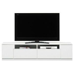 ローボード(テレビ台/テレビボード) ホワイト 【幅180