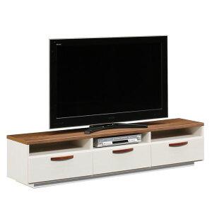 日本製 TV台 【173.5cm幅 ブラウン】 完成品 テレビ台