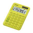 (まとめ) カシオ カラフル電卓 ミニジャストタイプ12桁 ライムグリーン MW-C20C-YG-N 1台 【×10セット】