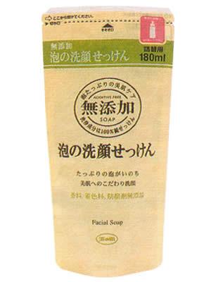 ミヨシ 無添加 泡の洗顔石鹸 詰替 180ml
