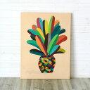 パイナップルをモチーフにしたカラフルな色づかいが素敵なアート(63300) 絵画 絵 アート キャンバス アートパネル ウォールデコレーション 壁飾り 壁掛け ...