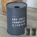 ヴィンテージオイル缶型 ダストボックス (91126)【 ト...