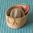 麻でできた編みこみ取っ手のバスケット(Sサイズ)(64000aー64000b) 麻 ジュート麻 ロープ バスケット かご 整理 収納 …