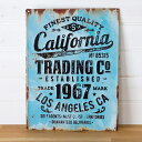 RoomClip商品情報 - 【 California 】ヴィンテージ風 サインボード(65210)サインプレート アンティーク調 ブリキ看板 ヴィンテージ調 デザインボード TINプレート 西海岸 男前 インテリア 雑貨 ブルックリン ビーチ マリン 店舗用 オブジェ 看板