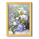 ルノワール複製名画額 「花瓶の花」 桧フレーム A3サイズ 17041