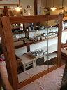 RoomClip商品情報 - 洗面収納棚・二枚合わせ鏡400:200☆ウォルナット色☆ミラーキャビネット