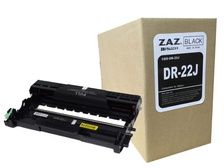 ZAZ DR-22J BROTHER ブラザー 互換 ドラムユニット レーザープリンタ 対応機種: HL-2130 / HL-2240 / HL-2270 / DCP-7060 / DCP7065 / FAX-7860 / MFC-7460 / FAX-2840用