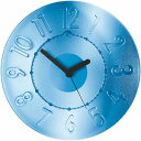 グッチーニ 掛け時計 CASA Time2 Go ウォールクロック ブルー 049900 66