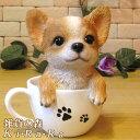 犬の置物 チワワ ティーカップドッグ Aタイプ ワンちゃん いぬ オブジェ リアル ドッグ モチーフ 毛並み こだわり オーナメント ガーデニング 愛嬌 カフェ インテリア ベランダアート