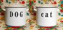 琺瑯 ホーロー ホウロウ キャニスター 収納 キッチン CAT DOG キャットポット ドッグポット キャット ドッグ『ポット』
