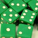 アウトレット商品 売切り!オリジナルダイス12mm(緑)12個セットサイコロ 双六 緑 6面 ボードゲーム イベント