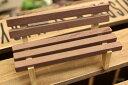 楽天ナチュラル雑貨プロペラミニチュア ブラウンベンチ 木製イス 椅子ガーデンマスコット 【開店セール1212】【RCP】