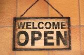 木製 アンティーク風  ウッド OPEN/CLOSEプレートドアプレート サインプレートオープン/クローズ MDF素材 Woden Door Plate 【開店セール1212】【RCP】