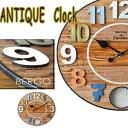 送料無料!左右に揺れる振り子が可愛い★ウッド調のアナログ壁掛け時計【INTERFORM(インターフォルム) ベルゴ ウォールクロック】木目を活かしたアンティークテイストの振り子時計。フランスの子供部屋に掛かっていそう