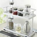 調味料等をすっきり収納出来る、2段タイプのキッチンスタンド。キッチン用品 / キッチンラック / 台所用品 / 調味料置き / スパイスラック / ラック / 収納