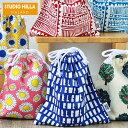 巾着袋 スタジオヒッラ 巾着 小 給食袋 女の子 コップ袋 雑貨 北欧 日本製 かわいい おしゃれ 男の子 大人 小学生 入学 入園 幼稚園 保育園 花柄 デイジー STUDIO HILLA