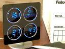 欲しい情報が1目でわかる!LED時計。【電波LED ウェザーステーション ドーム BLUE】