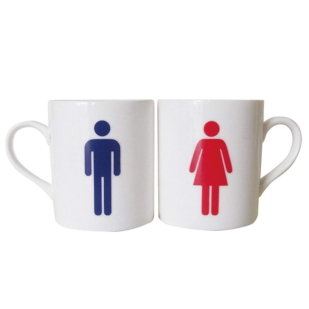 ユニークなマグカップ ペア トイレのマークのペアマグ