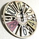 オールドルック ウォールクロック カラフル 時計 壁掛け おしゃれ アメリカン雑貨 アンティーク雑貨