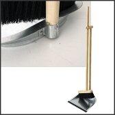 Clean House ウッド ブルームダストパン GALVANIZE ほうき ちりとり セット おしゃれ 室内 屋外 掃除セット ベランダ 玄関 箒 清掃