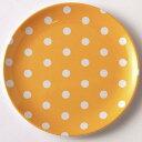 カラードットメラミン プレート イエロー メラミン 食器 カラフル プレート 皿 子供用食器 かわいい