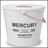 マーキュリー ブリキバケツ オーバルフタ付き ホワイト バケツ おしゃれ ふた付 ブリキ ガーデニング 収納 ダストボックス ペール かわいい タブトラッグス ゴミ箱 缶 インテリア 雑貨