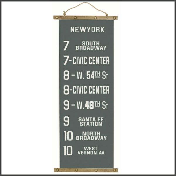 【訳あり値下げ商品】タペストリー 壁掛け バスロールサイン のれん アメリカ バスロールサイン タペストリー ニューヨーク