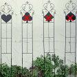不思議の国のアリス ガーデニング 棚 アンティーク 園芸 フェンス 仕切り 間仕切り スリムフェンス(ハート)