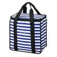 クーラーバッグ 保冷バッグ おしゃれ ショルダー 行楽 キャンプ ピクニック バカンスクーラー ピクニックバッグ ブルーボーダー| 02P23Apr16 |